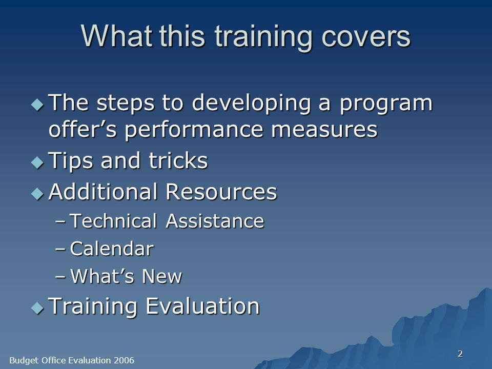 evaluation of training program Monitoring and evaluation training curriculum supervisors, program staff, community workers and management) it is helpful to have at least two or three.