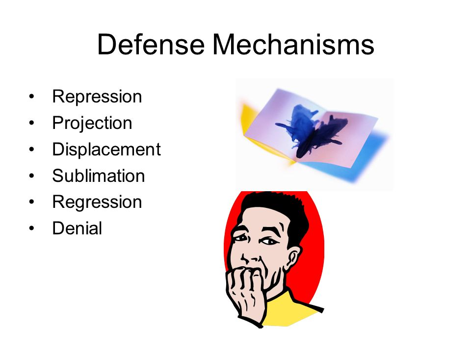 Defense Mechanisms Repression Projection Displacement Sublimation Regression Denial