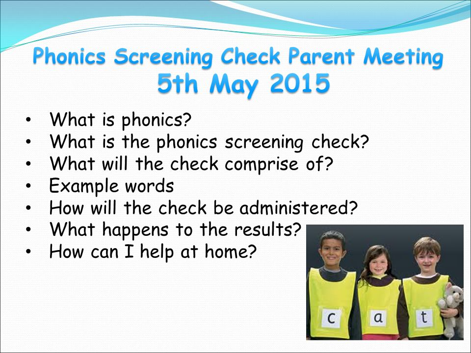 What is phonics. What is the phonics screening check.