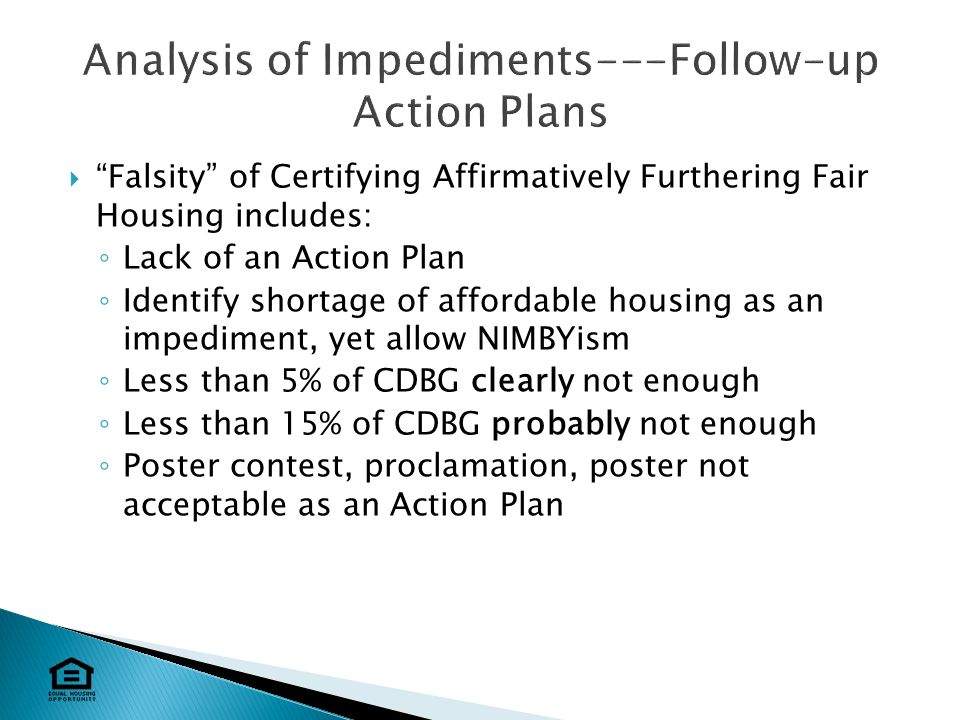 15 Falsity Of Certifying Affirmatively Furthering Fair Housing