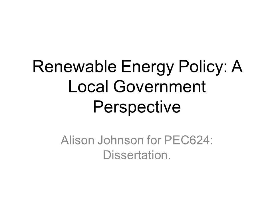 Dissertation renewable energy management