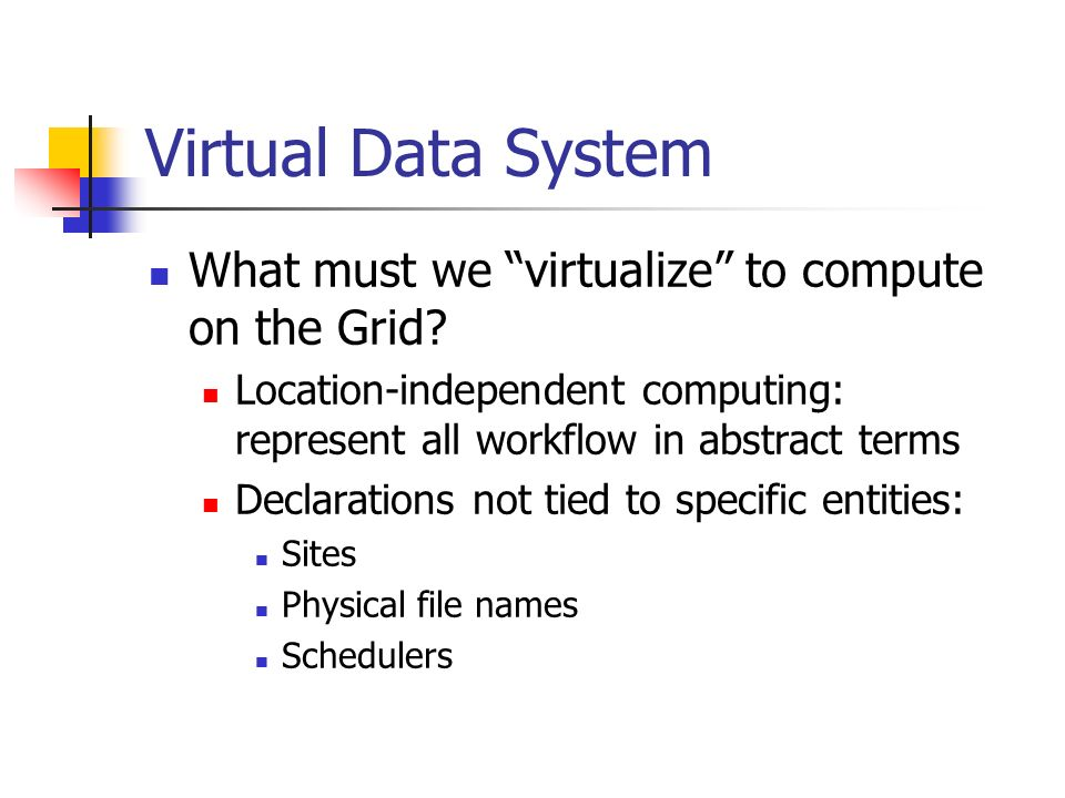 What must we virtualize to compute on the Grid.
