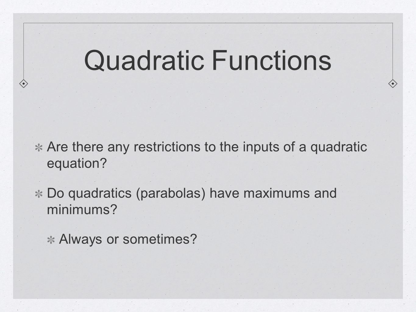 5 Quadratic Functions What How To Find The Range