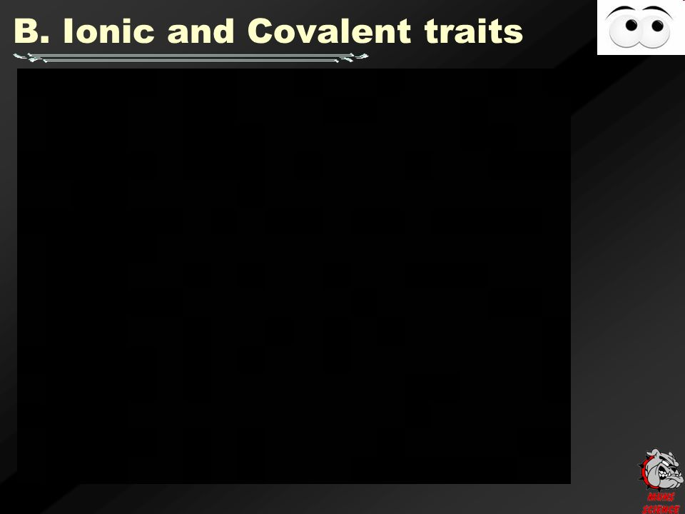 B. Ionic and Covalent traits