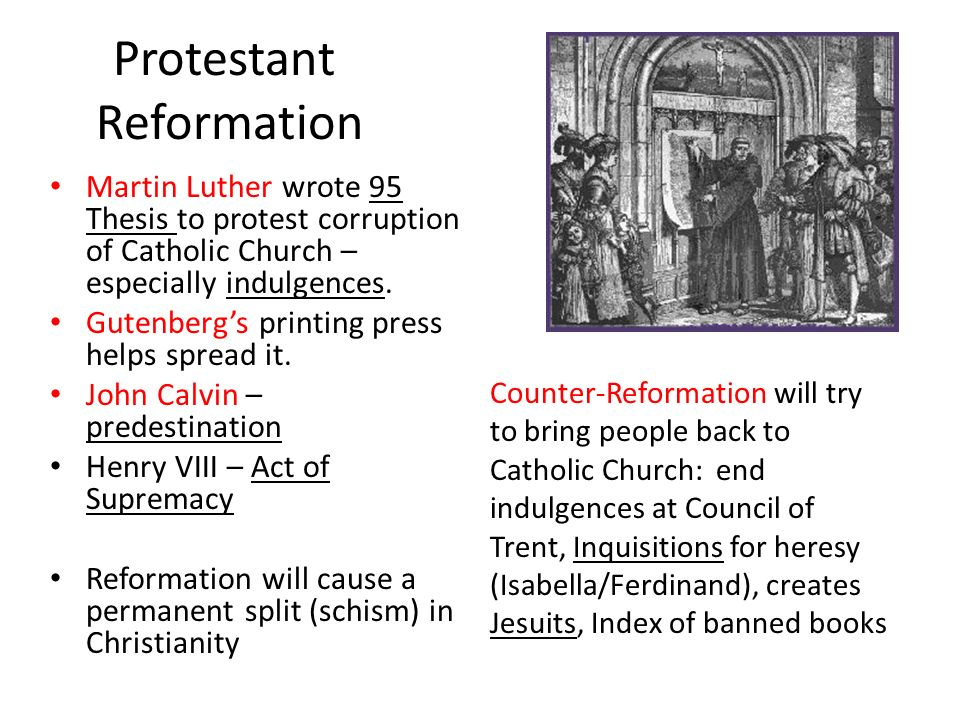 factors leading to protestant reformation essay Among the cultural factors affecting social change in modern times, the development of science and secularisation of thought have contributed a lot to the development of the critical and innovative character of the modern outlook.