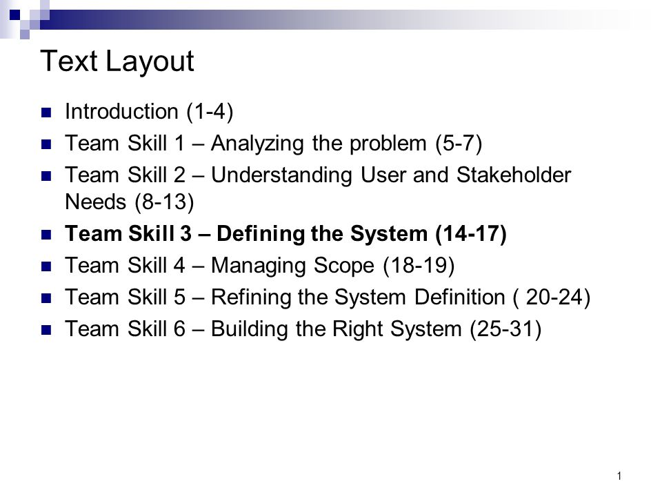 team skill