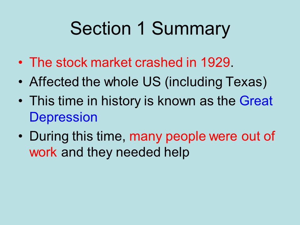Chapter Summary Us History