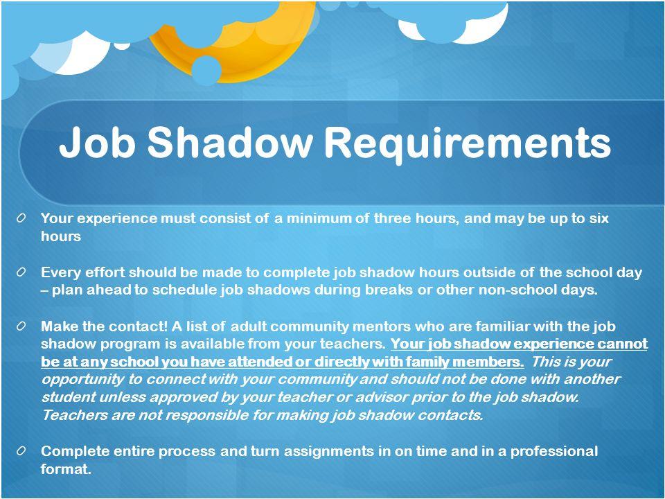 Job Shadowing Essay