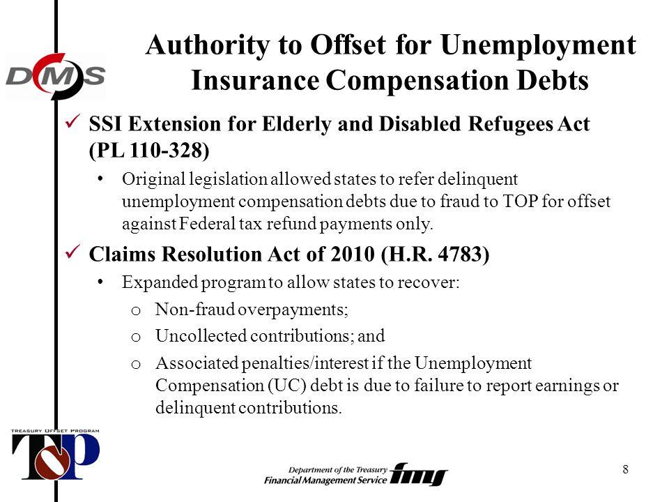 Treasury offset program for unemployment insurance compensation 8 8 spiritdancerdesigns Gallery