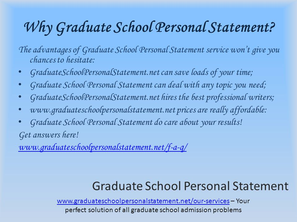 writing the perfect personal statement for graduate school