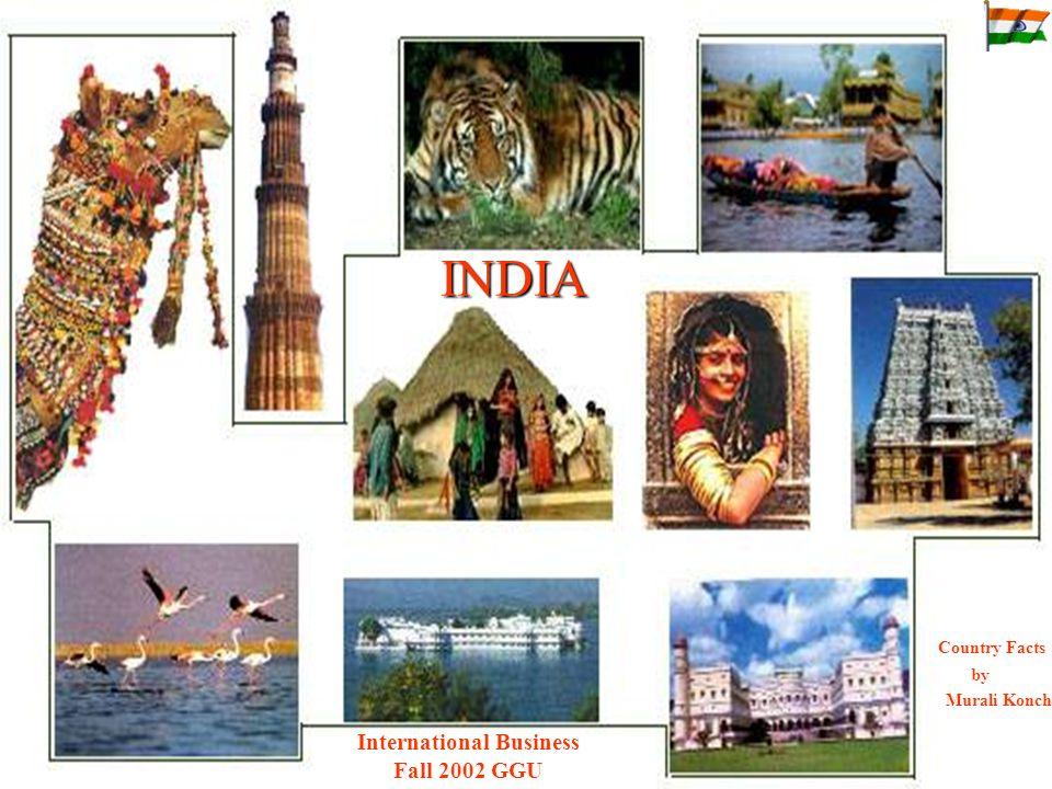 INDIA Country Facts by Murali Konchada International Business Fall 2002 GGU
