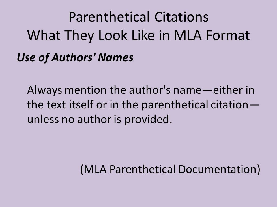 mla in paper citation
