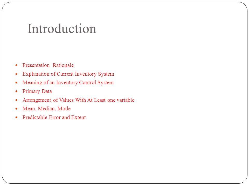 data arrangement and presentation