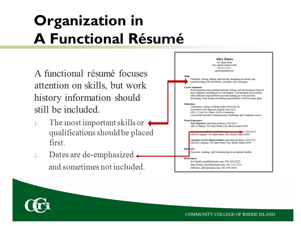 Resume format first job