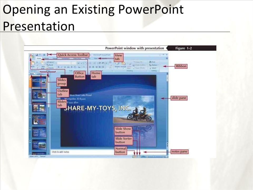First course creating a presentation xp objectives open and view 5 xp opening an existing powerpoint presentation toneelgroepblik Gallery