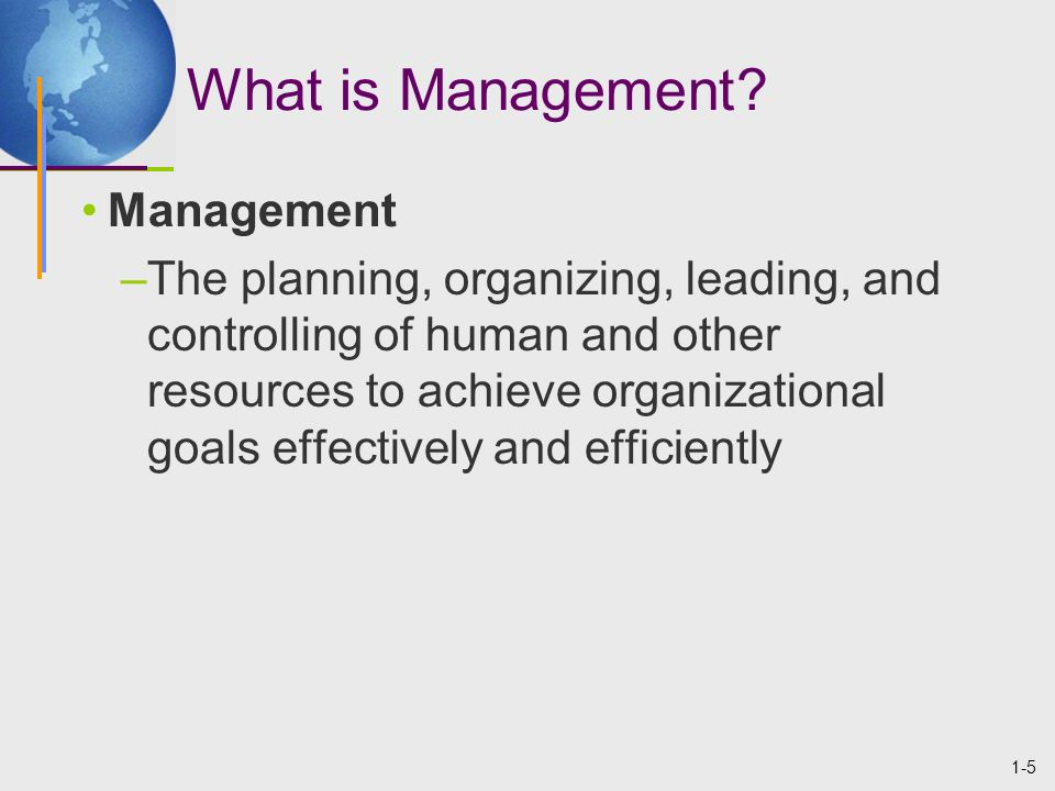 1-26 Levels of Managers Top-management team –group composed of the CEO, COO, and the heads of the most important departments