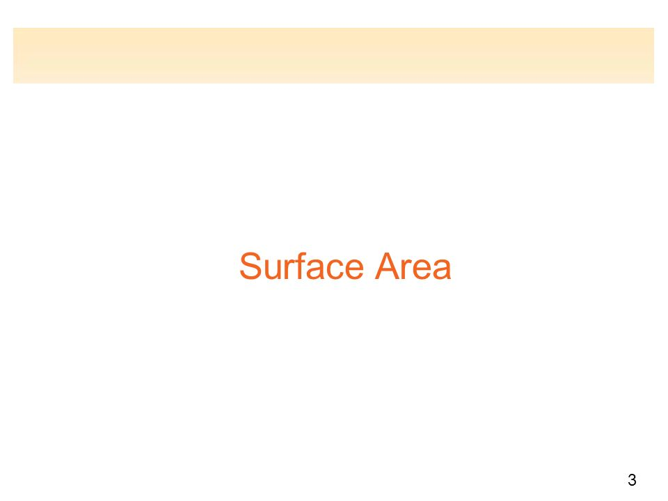 3 Surface Area