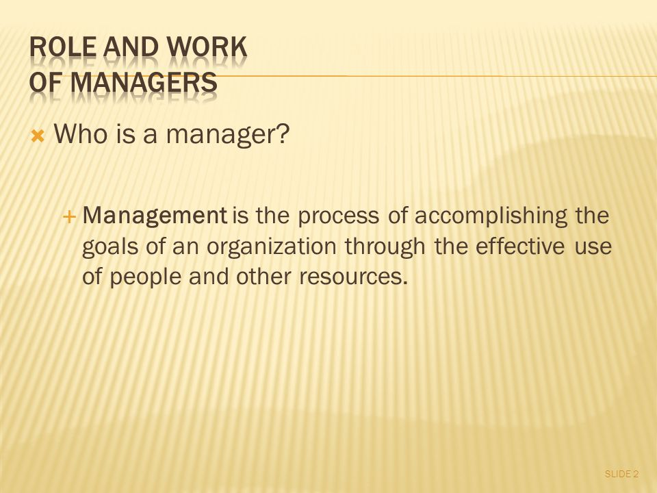  Who is a manager.