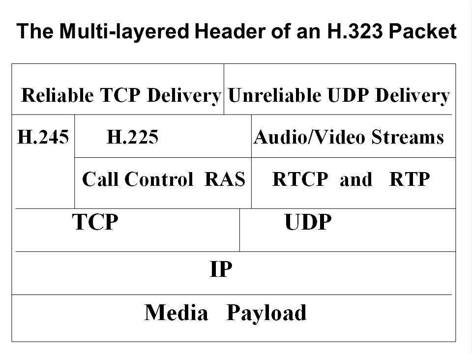 The Multi-layered Header of an H.323 Packet