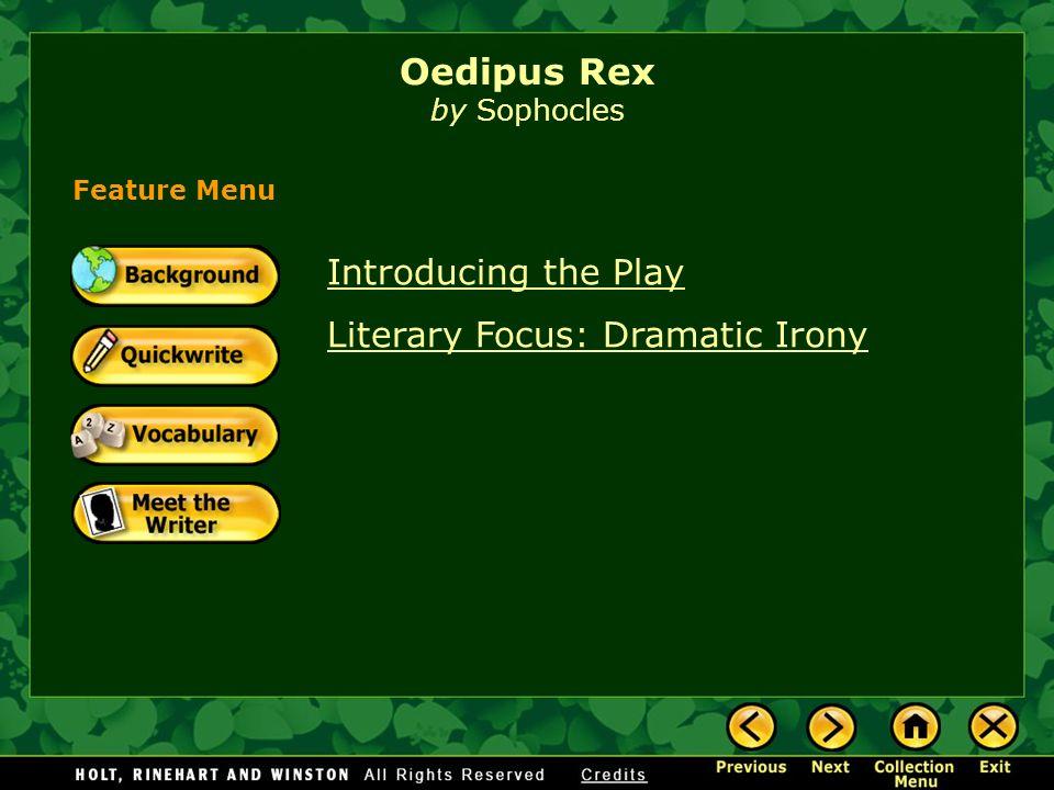 Oedipus rex essay irony
