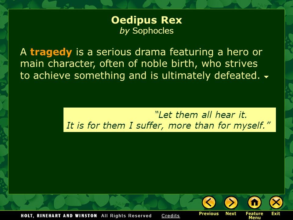 an essay on the tragedy of oedipus rex