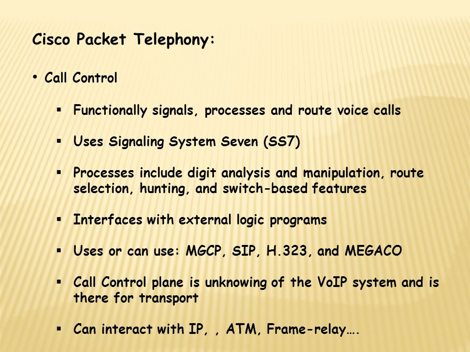CHAPTER 14 PSTN and VoIP Interworking. Cisco Packet Telephony ...