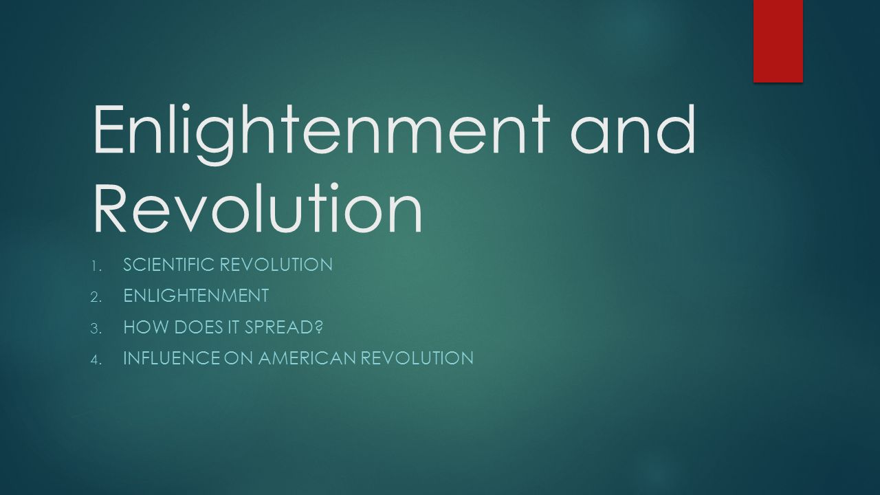 questions on the enlightenment