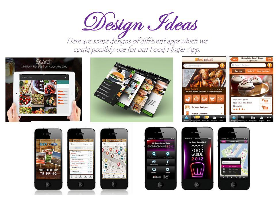Food Finder App Design. Design Ideas Here are some designs of ...