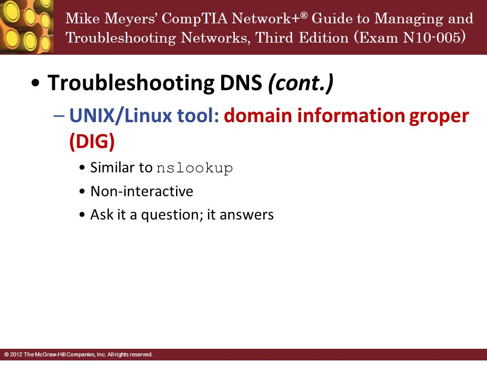 Mike Meyers Comptia Network Guide To Managing And