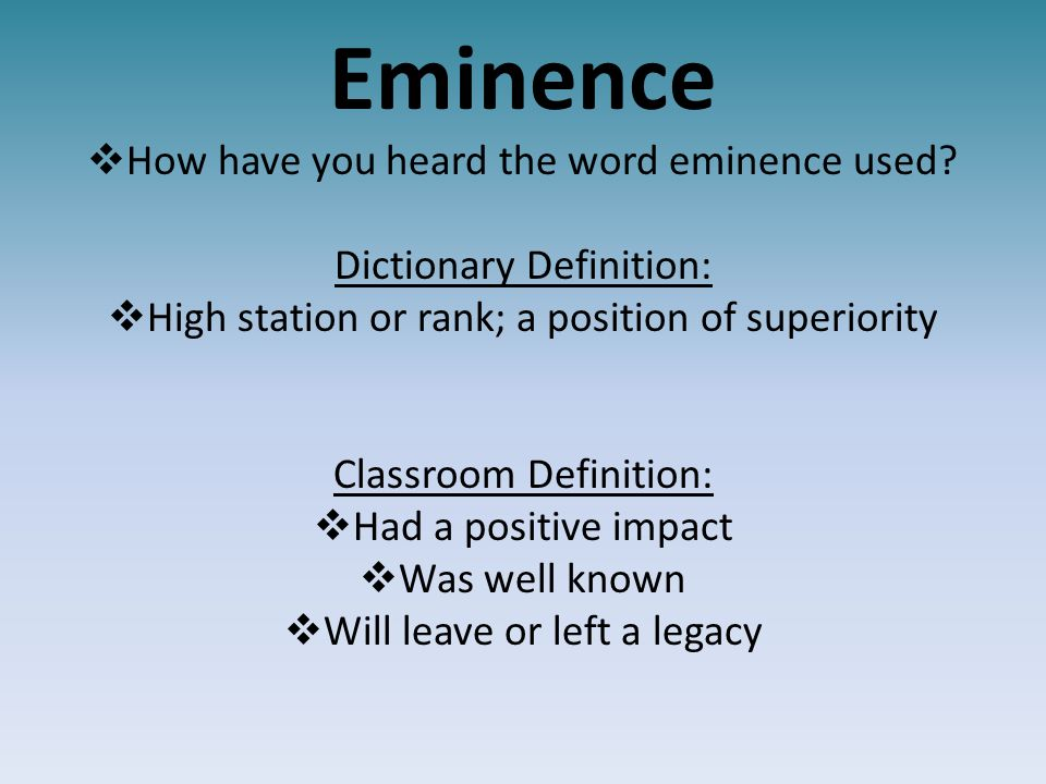 Exceptional 5 Eminence ...