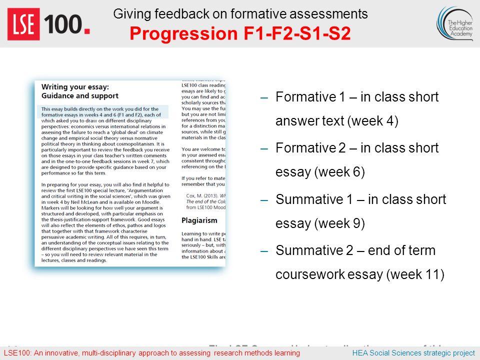 formative essay