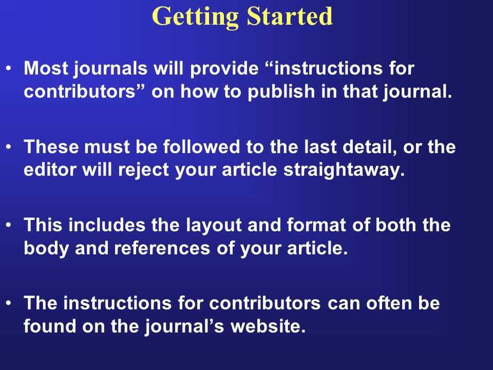 How To Start Writing Research Paper