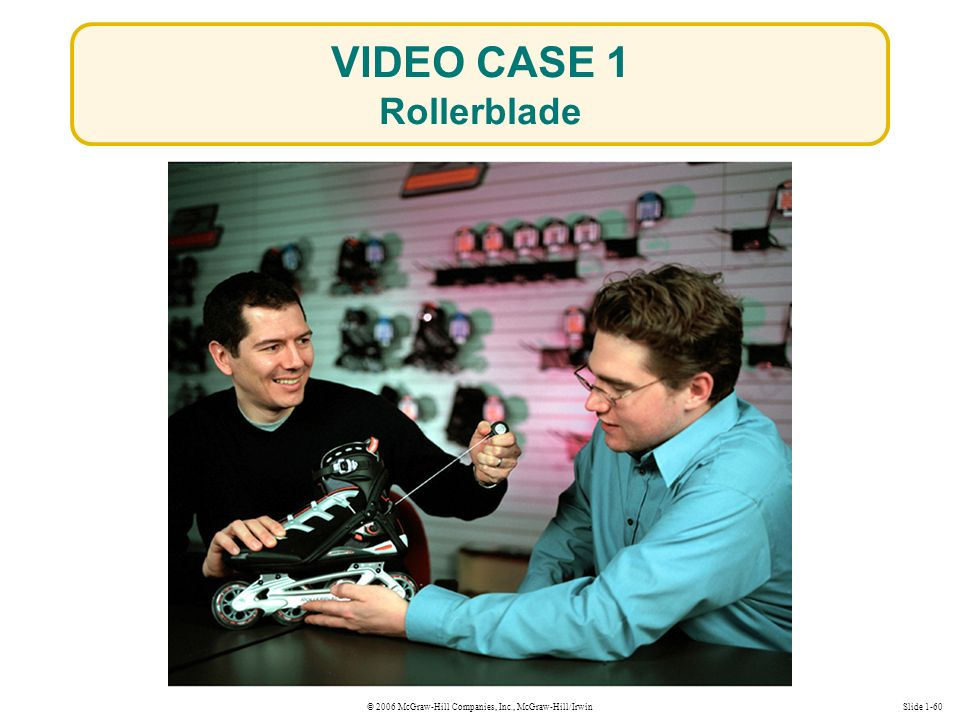 © 2006 McGraw-Hill Companies, Inc., McGraw-Hill/IrwinSlide 1-60 VIDEO CASE 1 Rollerblade