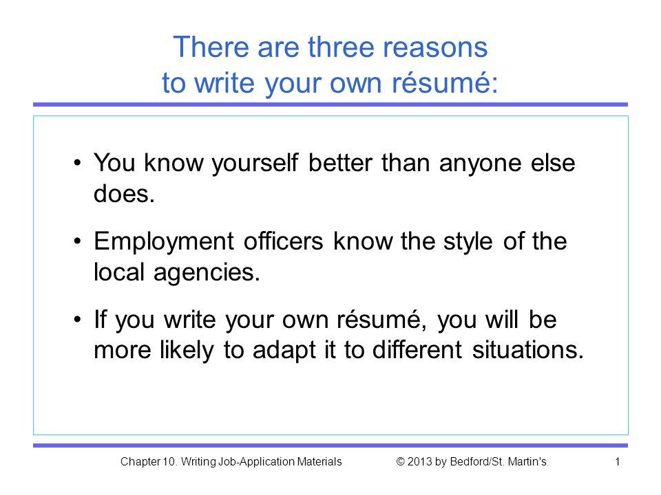 writing a job resume