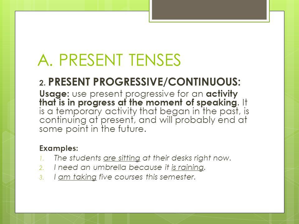 Present tenes