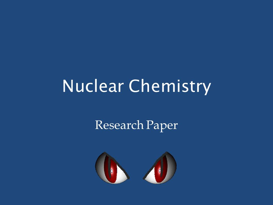 Chemistry Term Paper - Need topic suggestions?