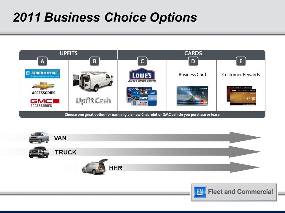 2011 Business Choice Option E – Customer Rewards Dealer Training ...