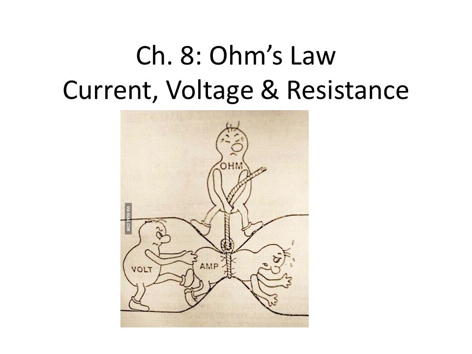 Ch. 8: Ohm's Law Current, Voltage & Resistance