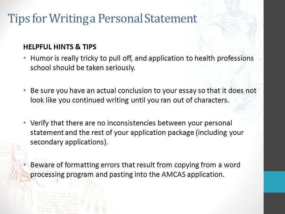 Personal Statement Essay Format