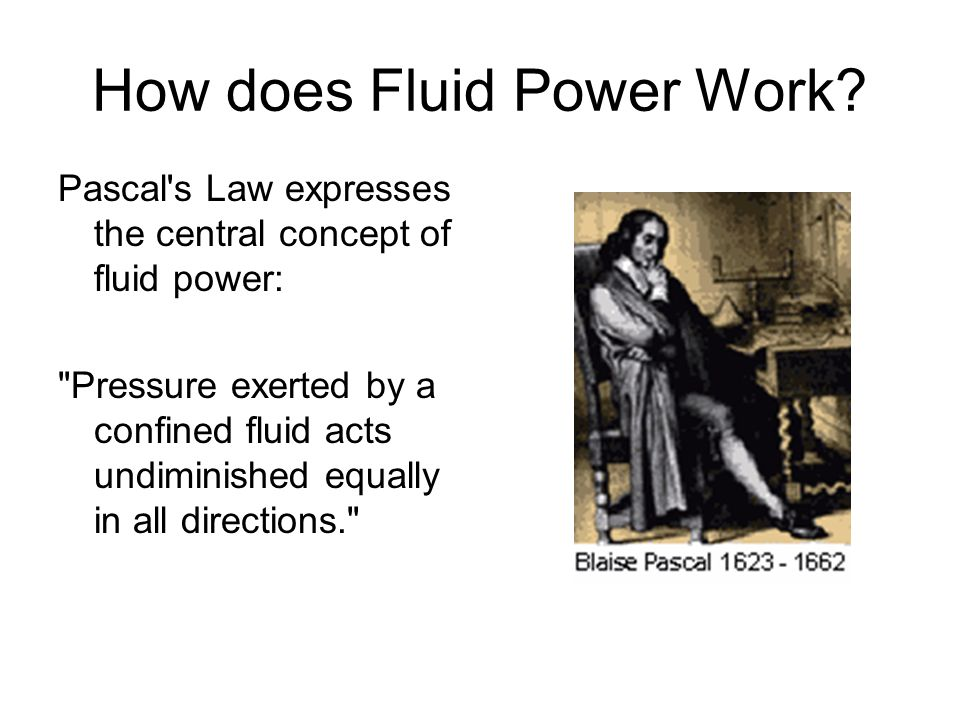 How does Fluid Power Work.