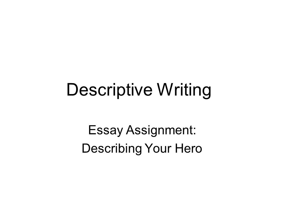 definition descriptive essay What is a descriptive essay a descriptive essay is an essay whose purpose is to describe or portray something, someone, or some place with enough detail to help.