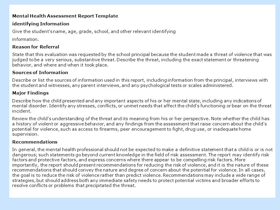 Student Threat Assessment Not Your FatherS Risk Assessment Dewey