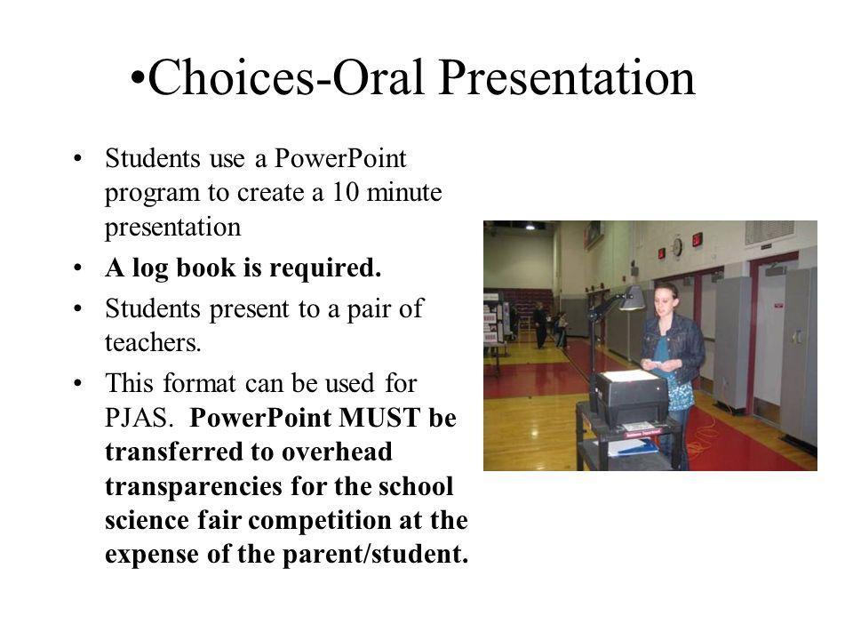 Science Fair Oral Presentation