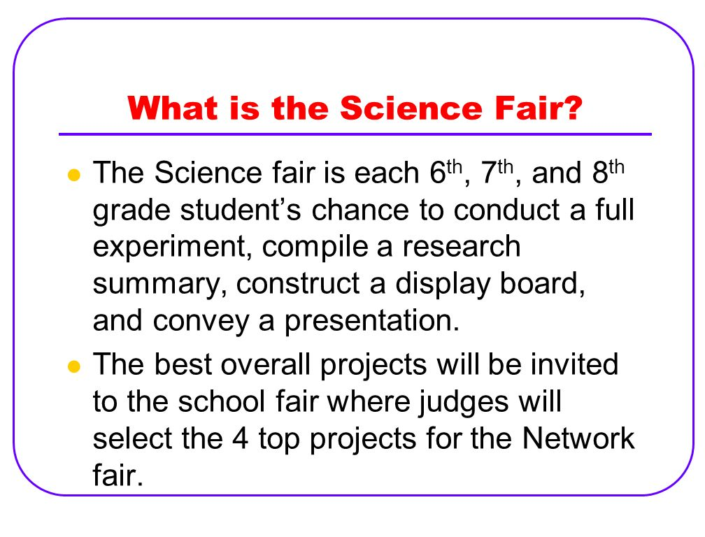 Research science fair projects