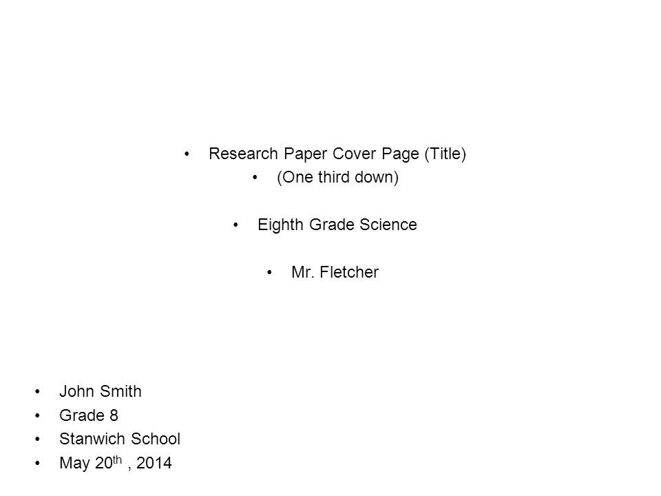 Title in research paper