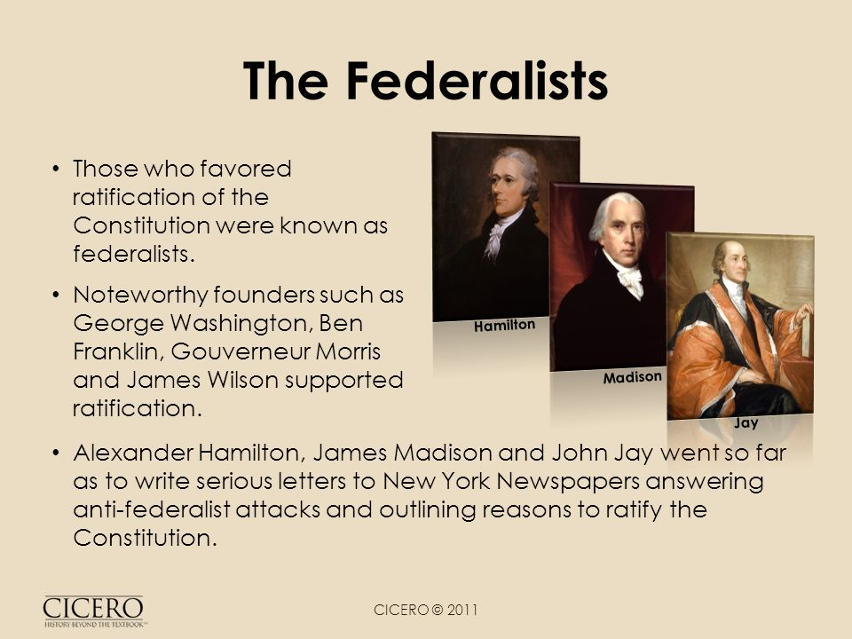 the federalists verses the anti federalists over ratification of the constitution