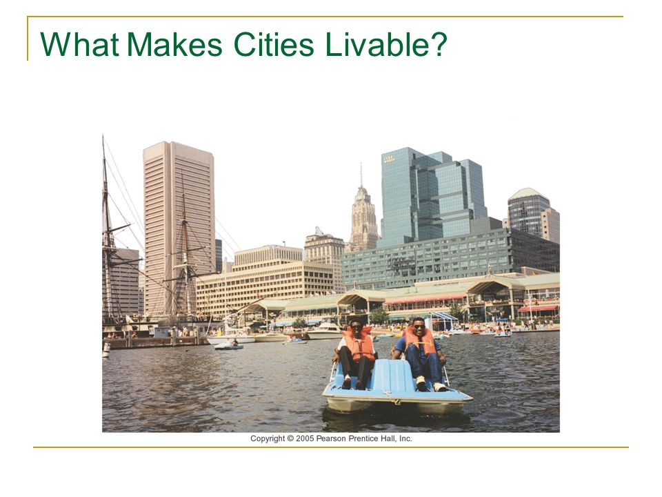 What Makes Cities Livable