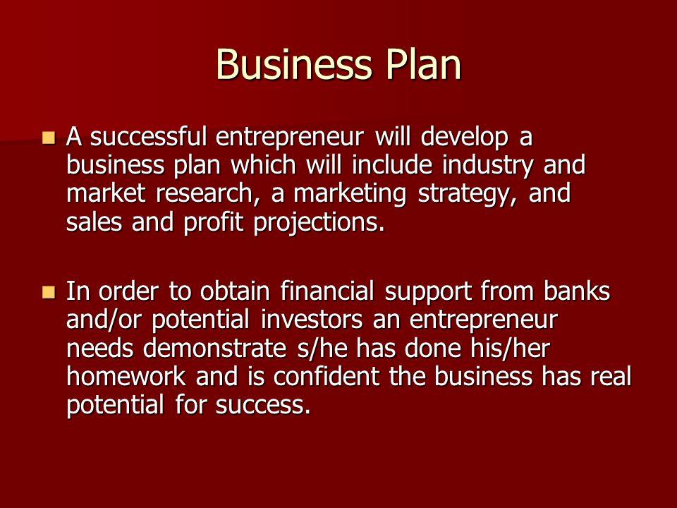 invention business plan success