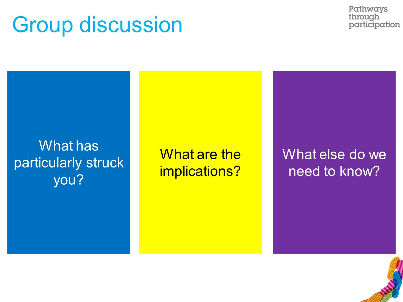 What has particularly struck you. What are the implications.