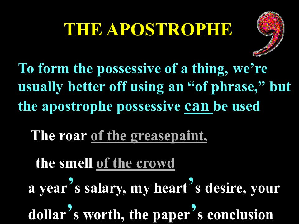 Abused Apostrophes A story with a happy ending. All over the ...